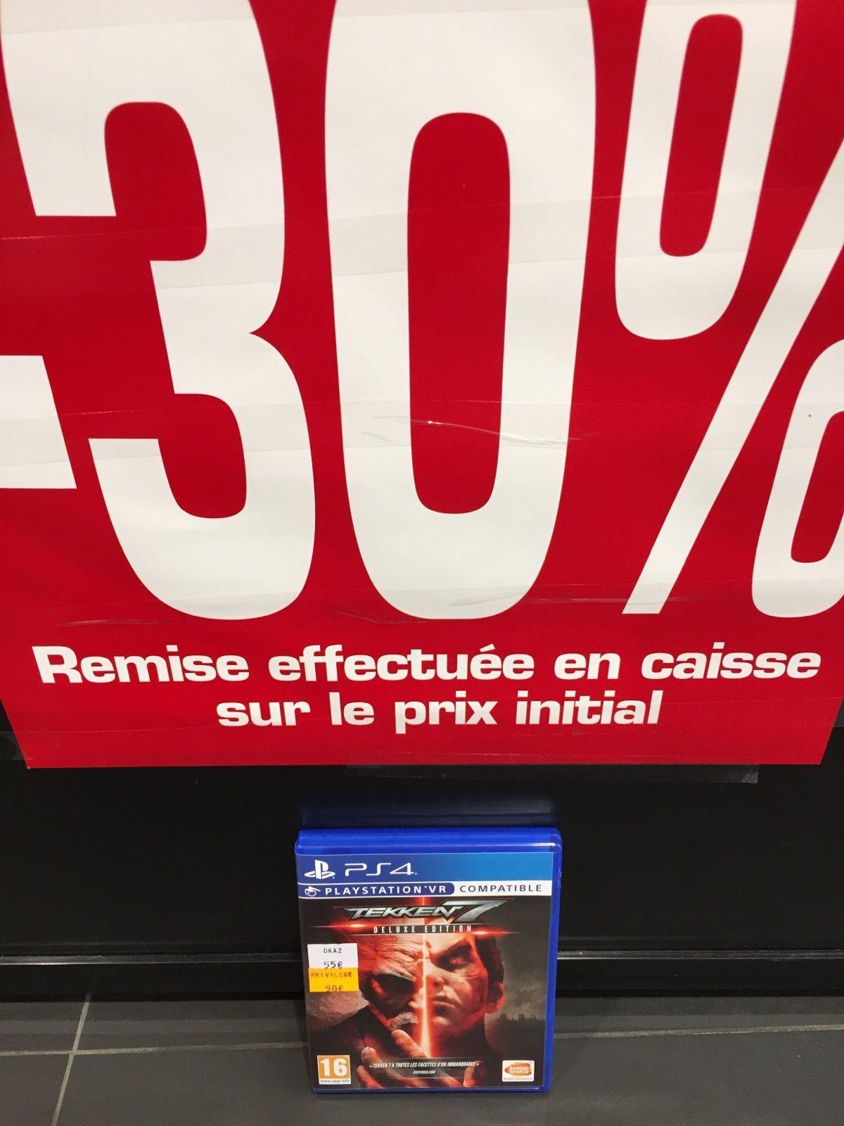 30% de réduction sur les jeux d'occasion PS4, Wii U, Xbox one et 3ds - Ex : Tekken 7 sur PS4 occasion