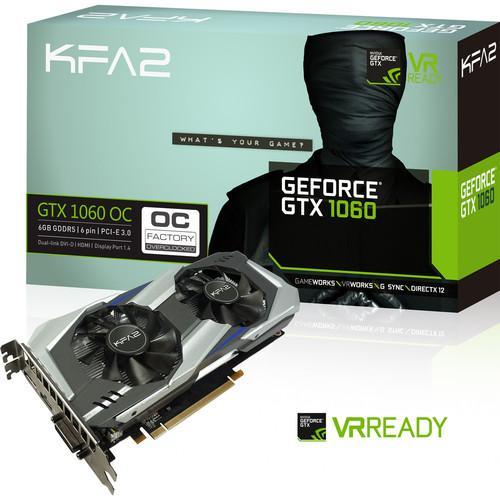 Carte graphique KFA2 GeForce GTX 1060 OC, 6 Go + Rocket League offert