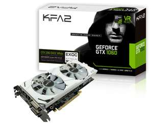 Carte Graphique KFA2 GeForce GTX 1060 EXOC White - 6 Go DDR5 + Rocket League offert