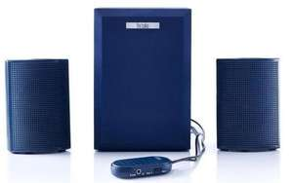 Enceintes multimédia 2.0 Hercules 20 - Bleu