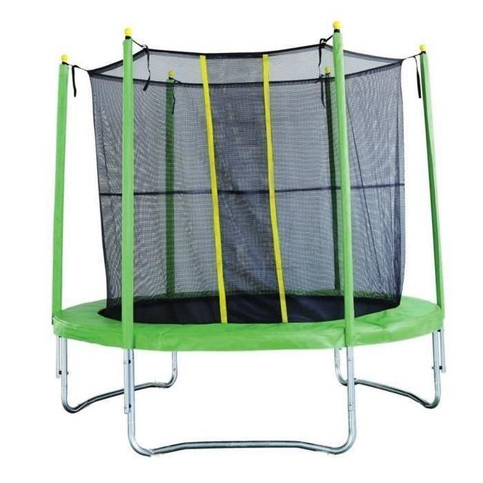 trampoline pliant vert -  2.44m