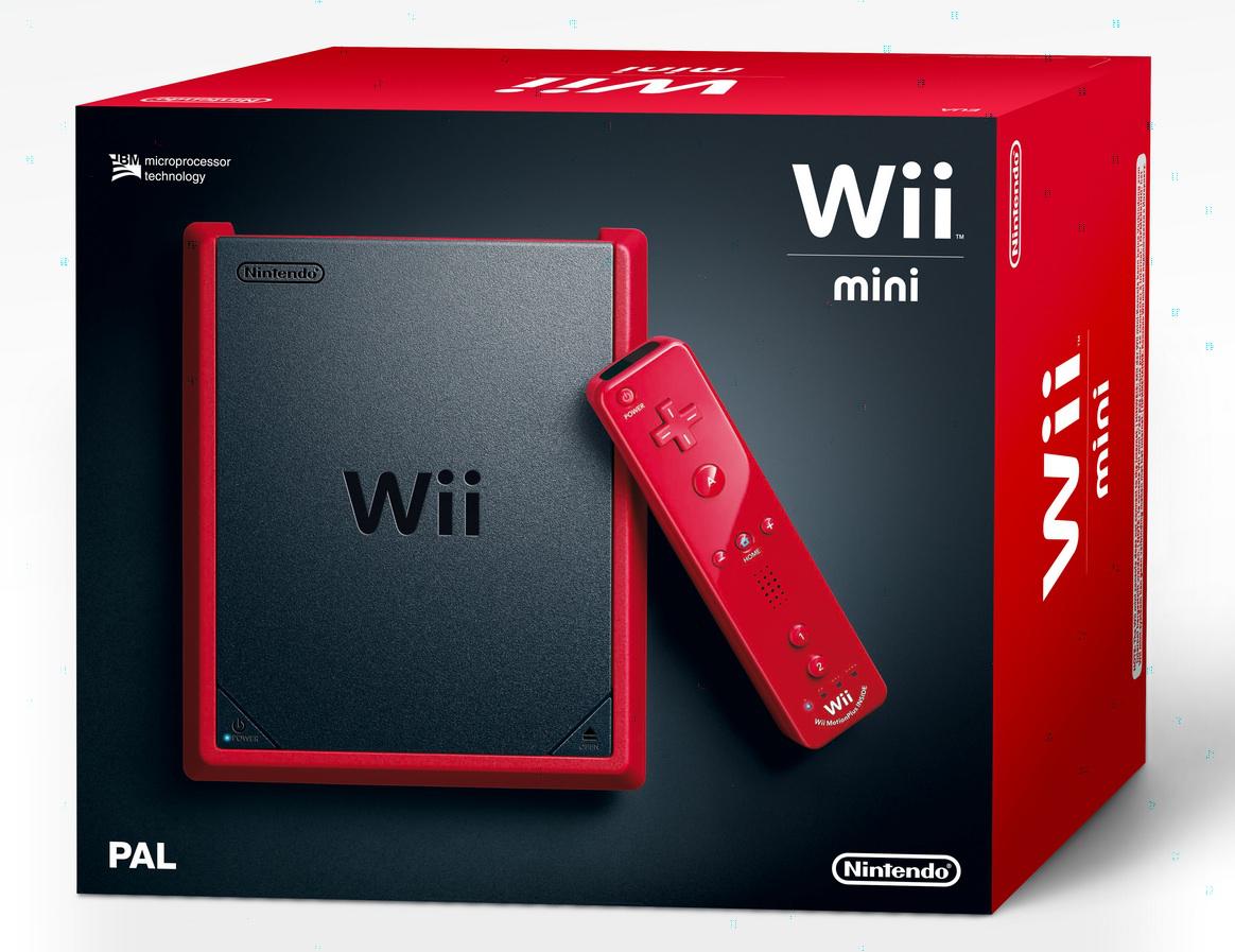 Pack Nintendo Wii Mini rouge + 2 jeux : Lapins Crétins retour V et Punch Out