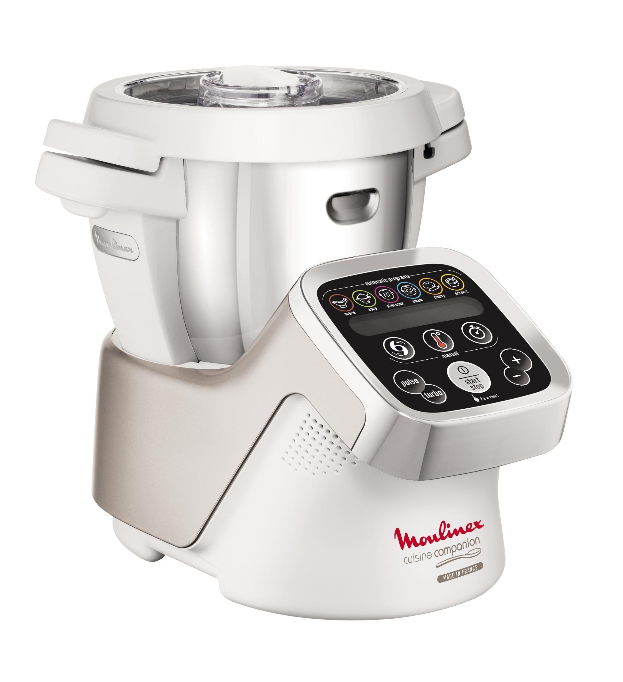 Robot Moulinex Companion HF800 A10 - 1500 Watt - Blanc/argent