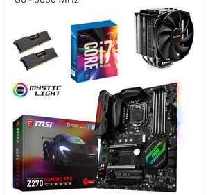 Kit d'évo Core i7-7700K + Carte mère MSI Z270 Gaming PRO Carbon + Ventirad Be quiet! Dark Rock 3 + Kit RAM Corsair Vengeance 2x8Go
