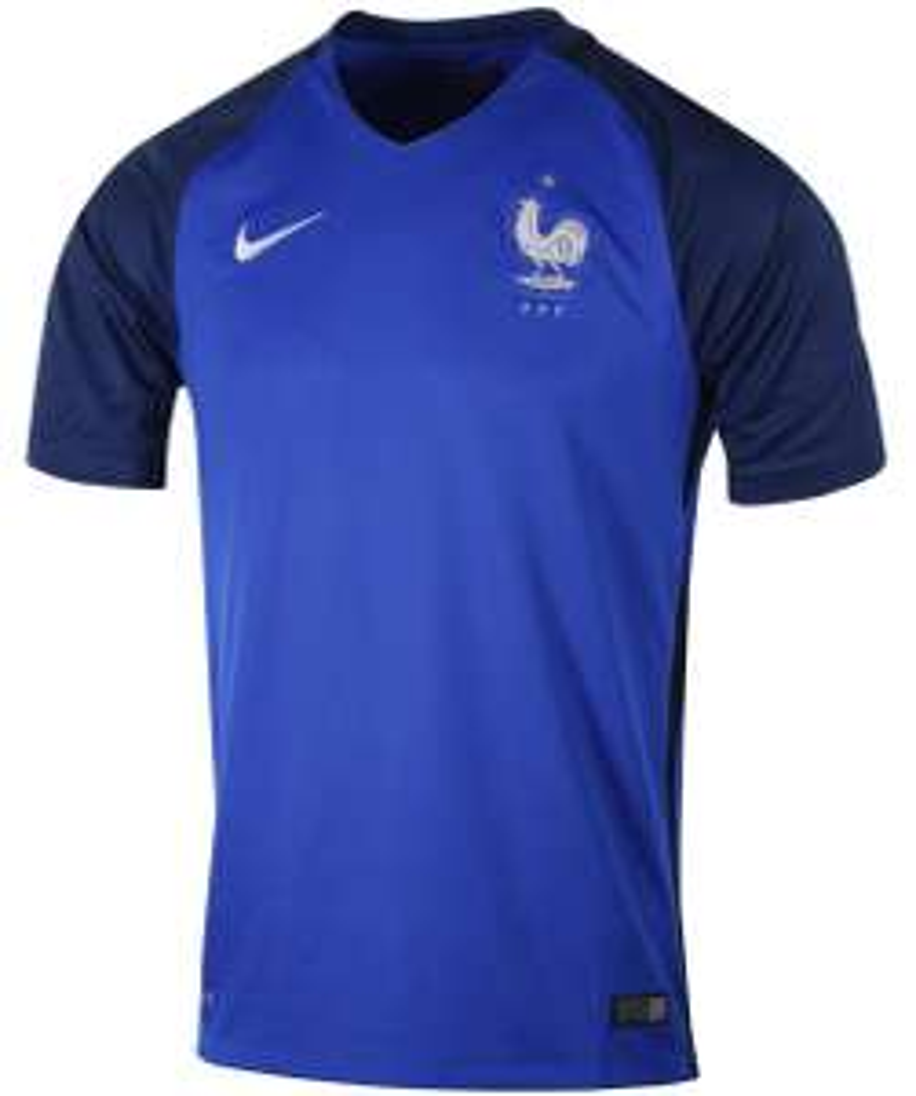 Sélection de maillots adultes, juniors, ou collection du supporter soldés - Ex : Maillot Stadium France Domicile 2016/17