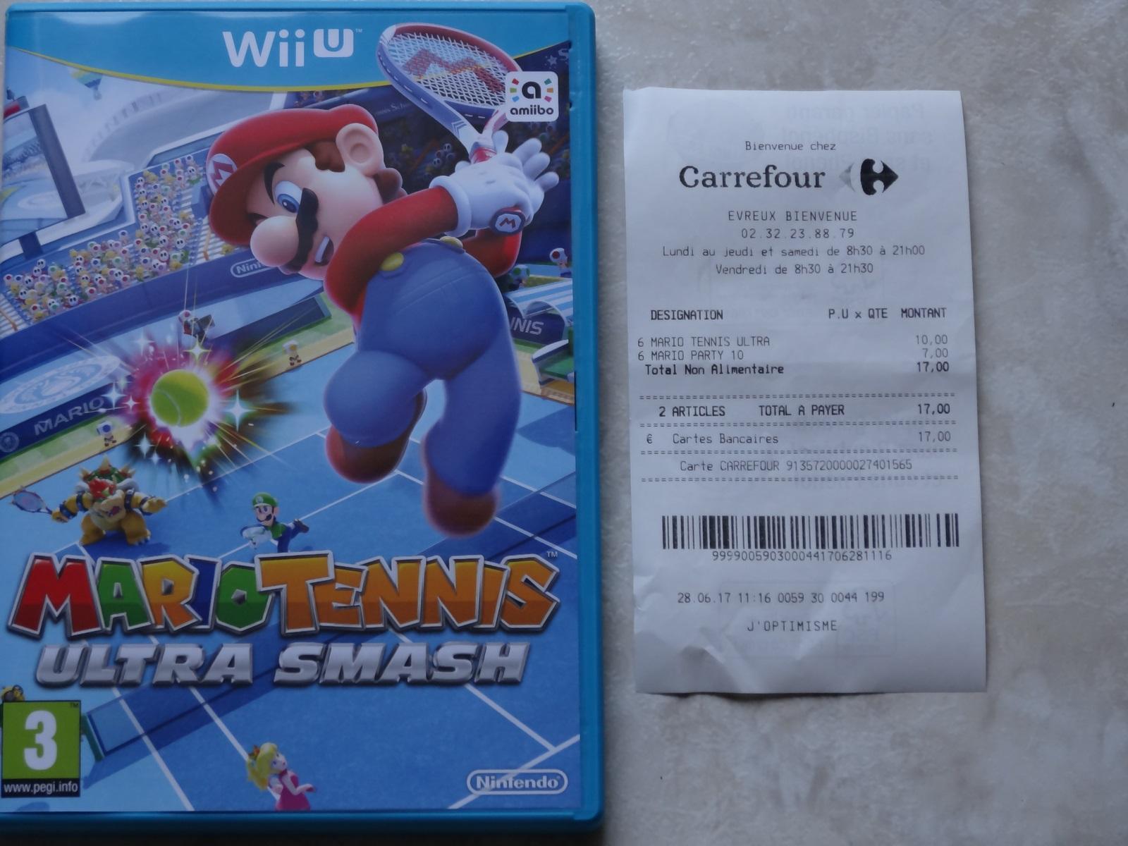 Jeu Mario Tennis sur Nintendo Wii U
