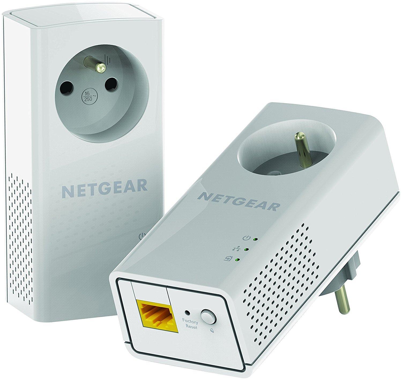 Pack de 2 Adaptateurs CPL Netgear PLP1200-100FRS - 1200 Mbit/s, Blanc