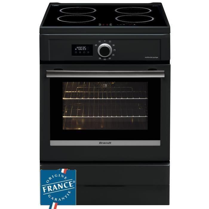 Cuisinière à induction Brandt BCI6656A - 4 foyers - 9275 kW Four électrique (Pyrolyse)