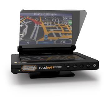 Système d'affichage tête haute pour smartphone RoadEyesCam recPop