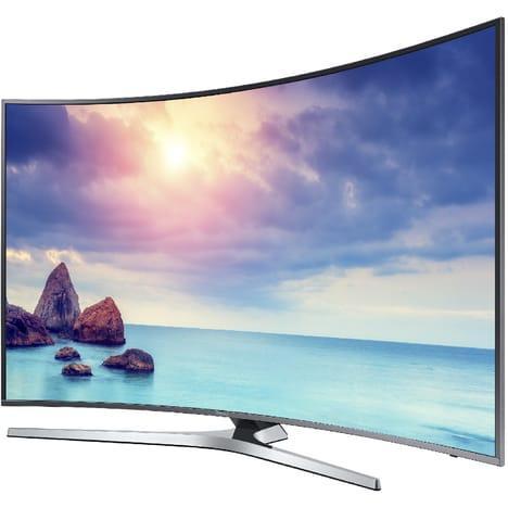"""TV LED 55"""" Samsung UE55KU6650UXZF 4K UHD, Incurvé, Smart TV, 1600 PQI"""