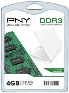 Barrette de RAM PNY SO-DIMM DDR3-1333 - 4 Go