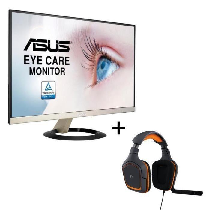 "Ecran PC 23"" Asus VZ239Q - Full HD - Dalle IPS - 5ms + Micro-Casque Logitech G231 Prodigy"