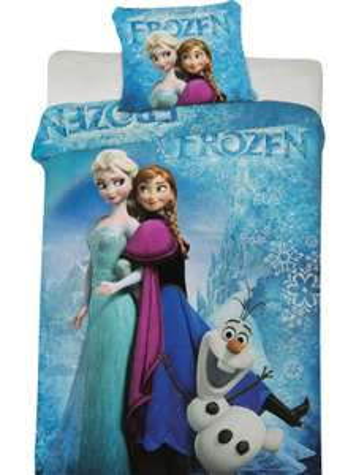 50% de réduction  sur les parures de lit enfant dont Reine des Neiges - Ex : Parure de lit La Reine des Neiges