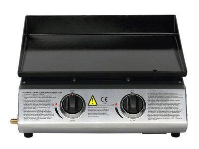 Plancha gaz Banco 2 - 2 brûleurs - 6.3 kW