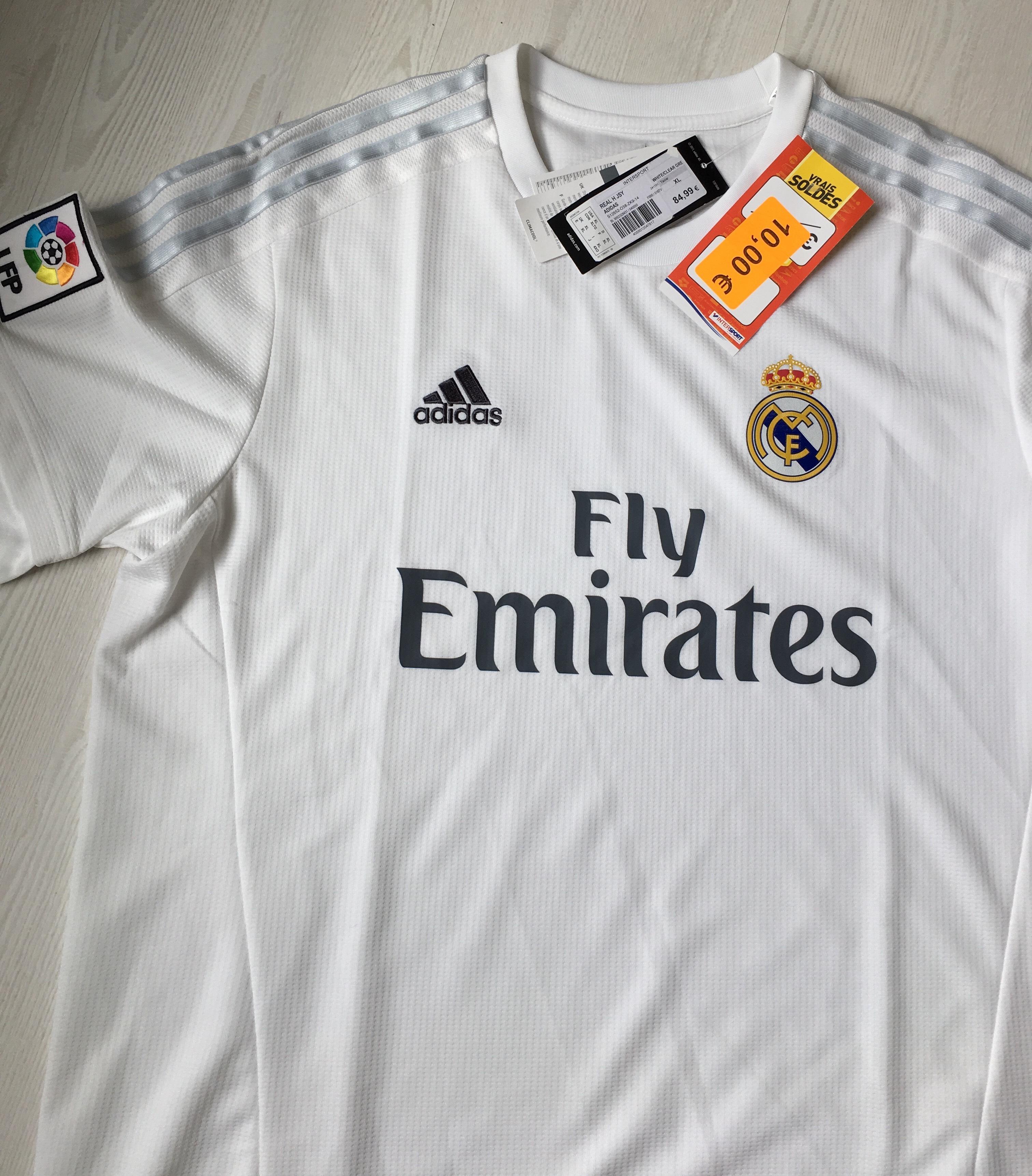 Sélection de maillots de football soldés - Ex : Maillot Domicile Real Madrid