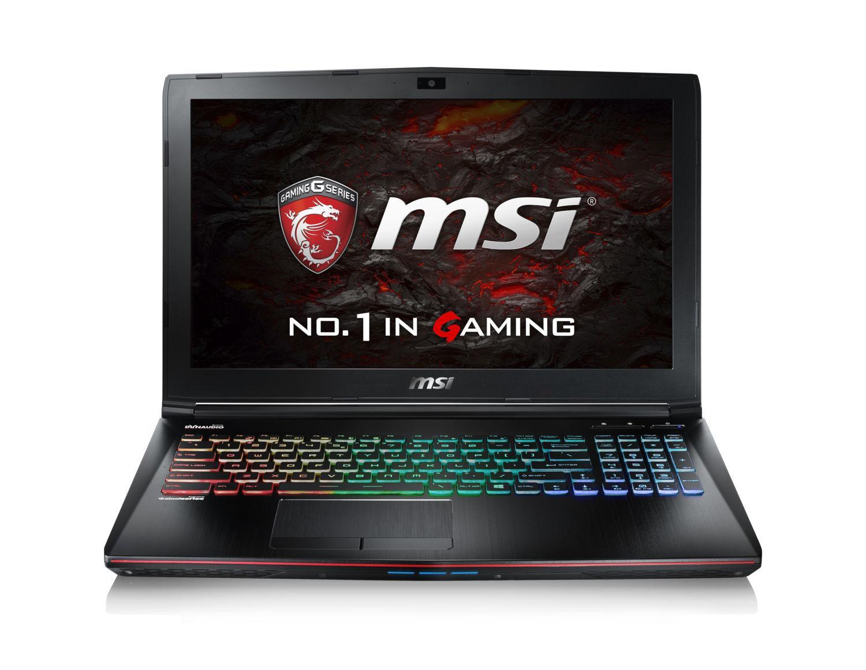 "PC Portable 15.6"" MSI GE62VR 6RF-221XFR Apache Pro - Noir (i5-6300HQ, 8 Go RAM, GTX 1060, 1 To + 128 Go SSD, Freedos)"