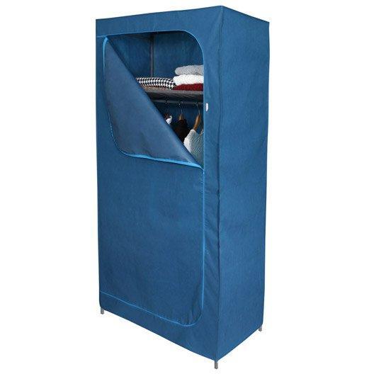 Housse pour penderie intissé Spaceo H.195 x l.100 x P.50 cm - Bleu