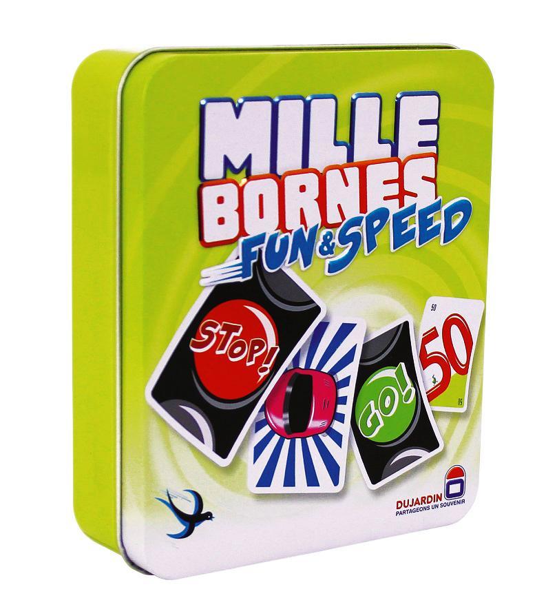 Jeu de société Mille Bornes Fun and Speed boîte métal