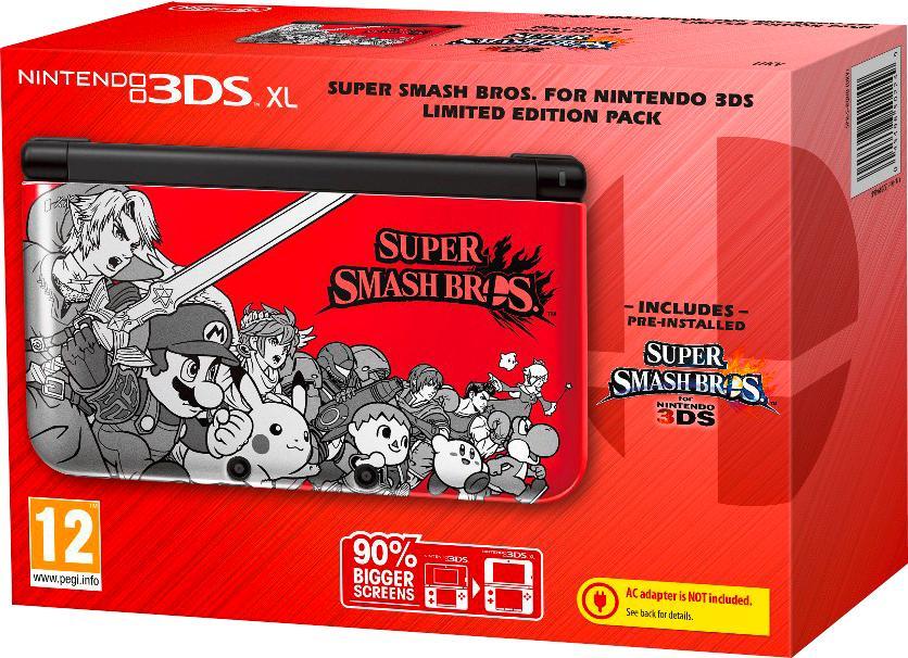 Pack Console Nintendo 3DS XL + Super Smash Bros (préinstallé) - Edition limitée