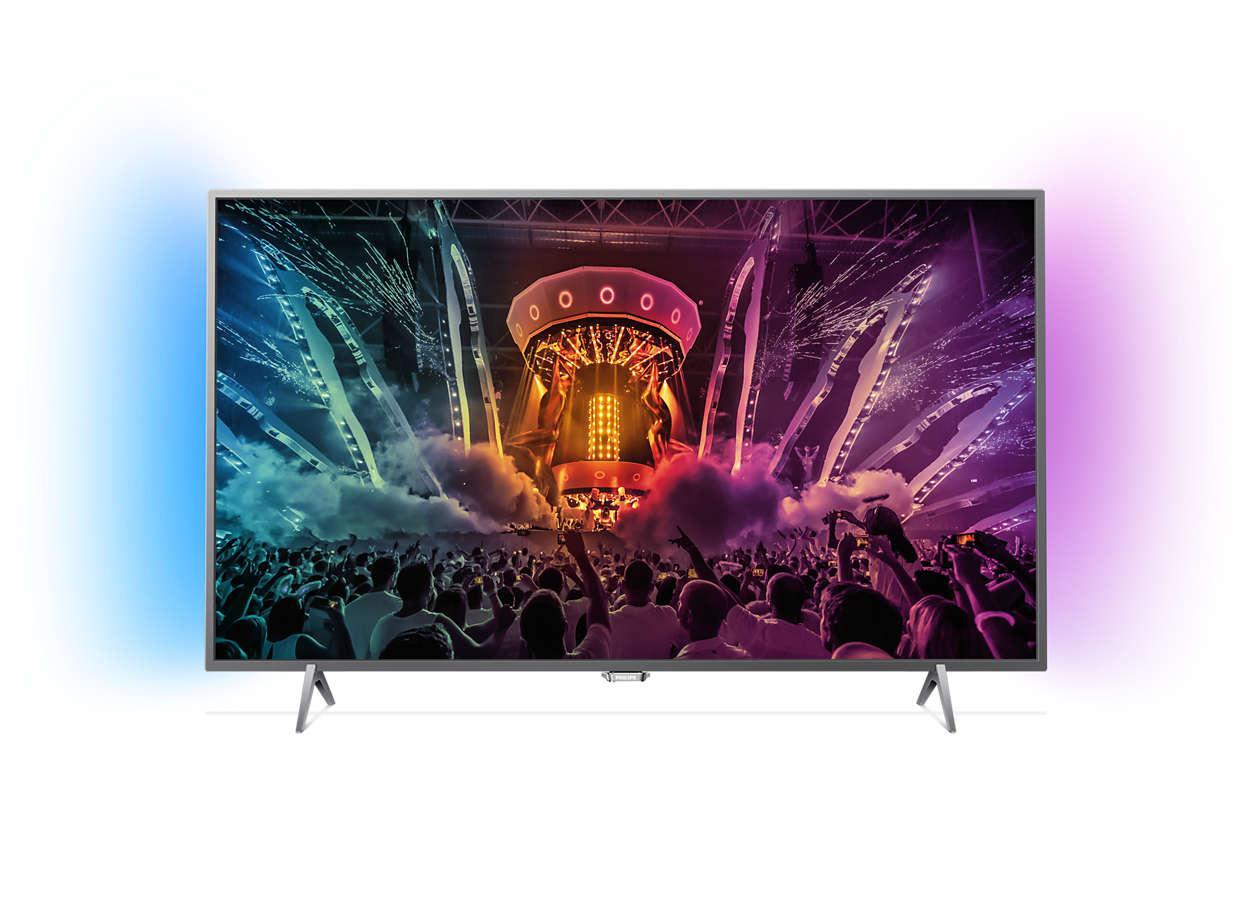 """TV 55""""  4K Philips 55PUS6401, Ambilight, Smart TV, HDR Plus"""