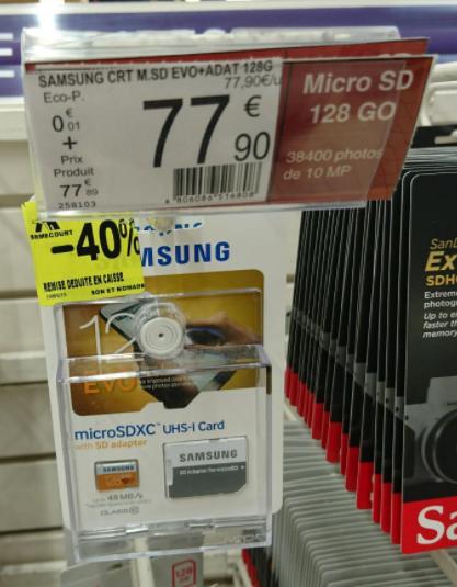 Carte mémoire microSD Samsung Evo - 128Go