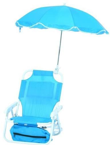 Fauteuil O'Kids avec Parasol pour Enfants - Bleu