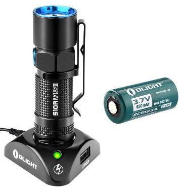 Lampe de Poche Rechargeable Olight S10R Baton II Cree XP-L à LED - 500 Lumens + Batterie RCR123A 650mAh + Chargeur