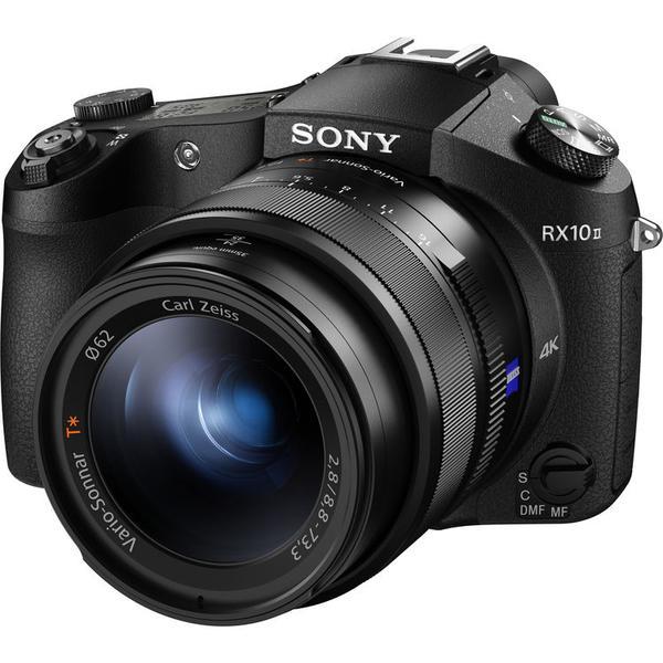Appareil Photo Numérique Bridge Expert Sony DSC-RX10 II Noir - CMOS Exmor RS 1'', 20,2 Mpix, 24-200mm, F2.8 constant, 4K