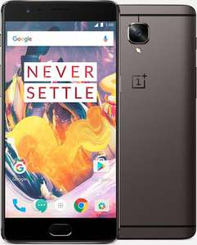"Smartphone 5.5"" OnePlus 3T Dual SIM Gris Global Version - 4G (avec B20), FHD, Quad-core Snapdragon 821, RAM 6Go, 64Go, 3400mAh, Android Nougat"