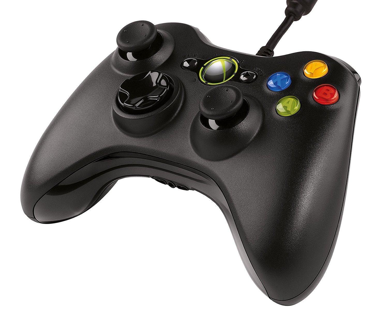 Manette filaire Microsoft pour Xbox 360 et PC