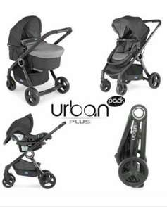 Poussette Combinée Chicco Trio Pack Urban Plus - Anthracite