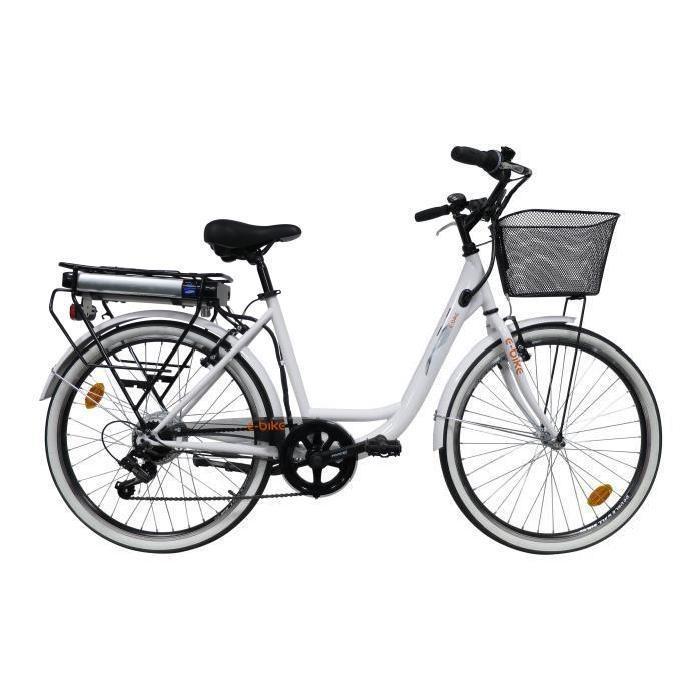 Vélo Electrique Ville VAE CITY 6 Vitesses 36V-7,8AH Batterie Lithium