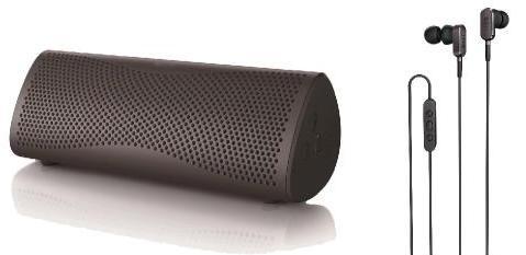 Enceinte Kef Muo Bluetooth Argent + écouteurs intra-auriculaire Kef M100 Gris Titane