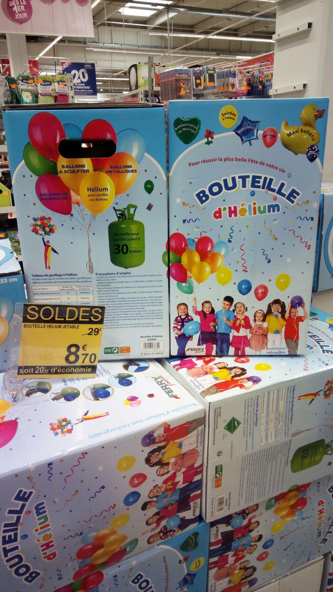 Bonbonne d'hélium jetable (jusqu'à 30 ballons)