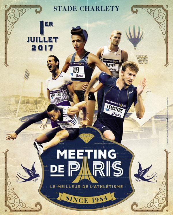 Une place pour le Meeting d'athlétisme de Paris achetée   = une place offerte