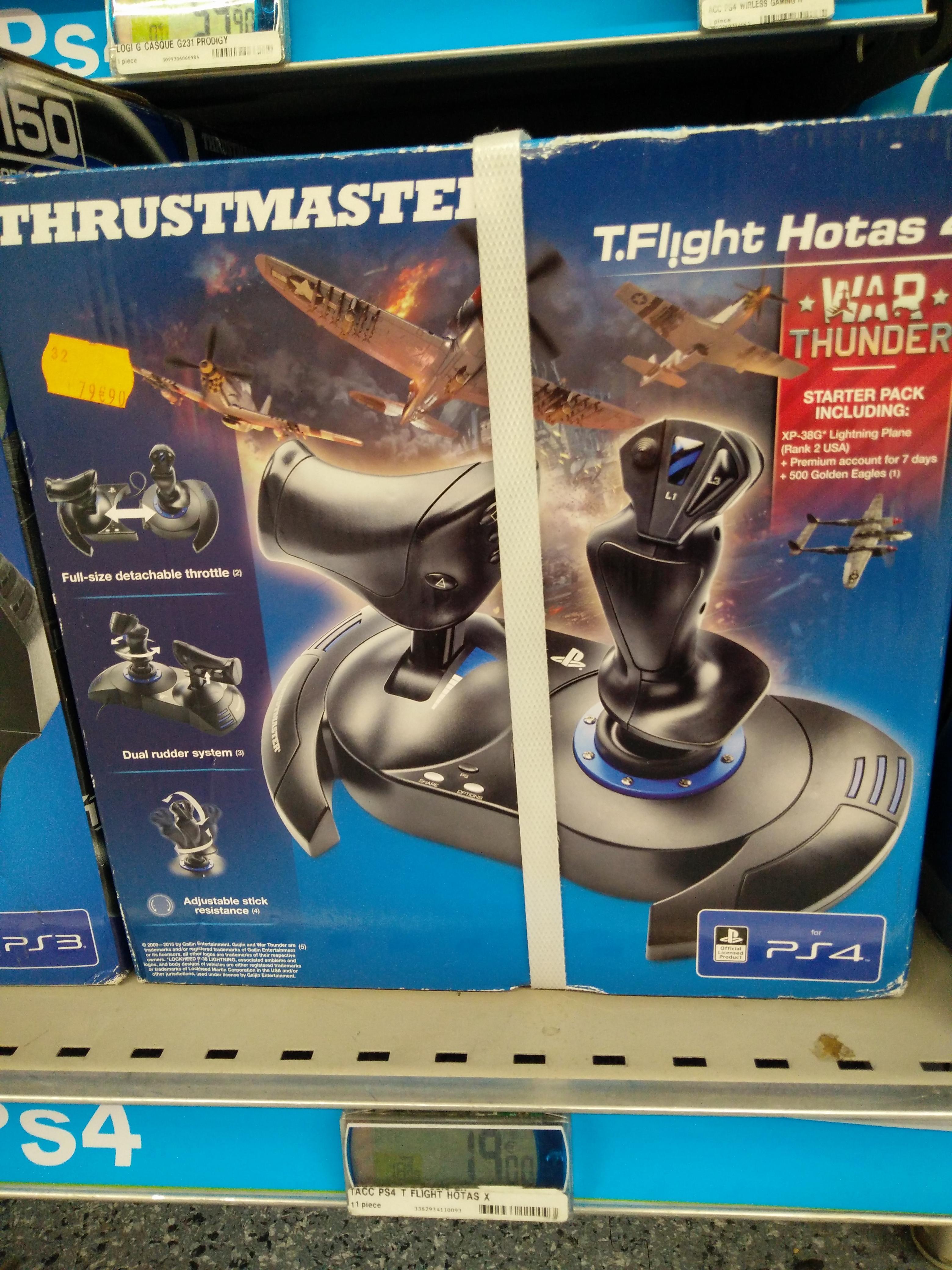 Joystick T.Flight Hotas 4 pour PC et PS4