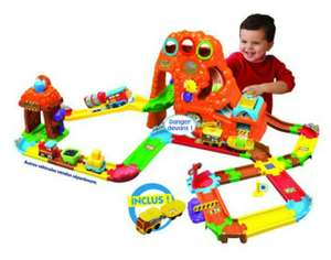 Vtech Baby Tchou Tchou Bolides - Circuit train Canyon Express + Ernest, le train du Far West