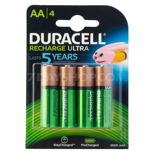 Lot de 4 piles rechargeables Duracell Duralock (2500 mAh)