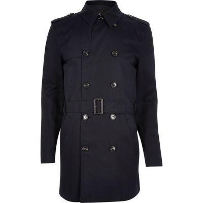 Imperméable classique pour homme - Bleu Marine (Taille XS, XL, XXL)