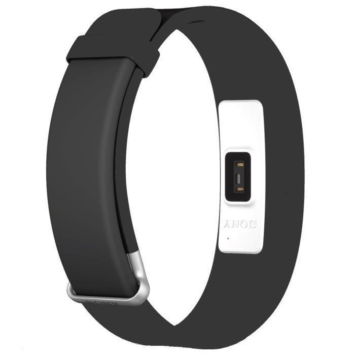 Bracelet connecté Sony SmartBand 2 (SWR12) - Noir (via ODR de 70€)