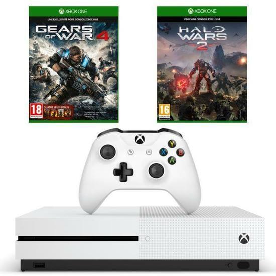Sélection de Packs Xbox One S en promotion - Ex : Console Microsoft Xbox One S (500 Go) + Gears of War 4 + Halo Wars 2