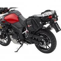 Sacoches pour moto QBag 01 - noir / rouge