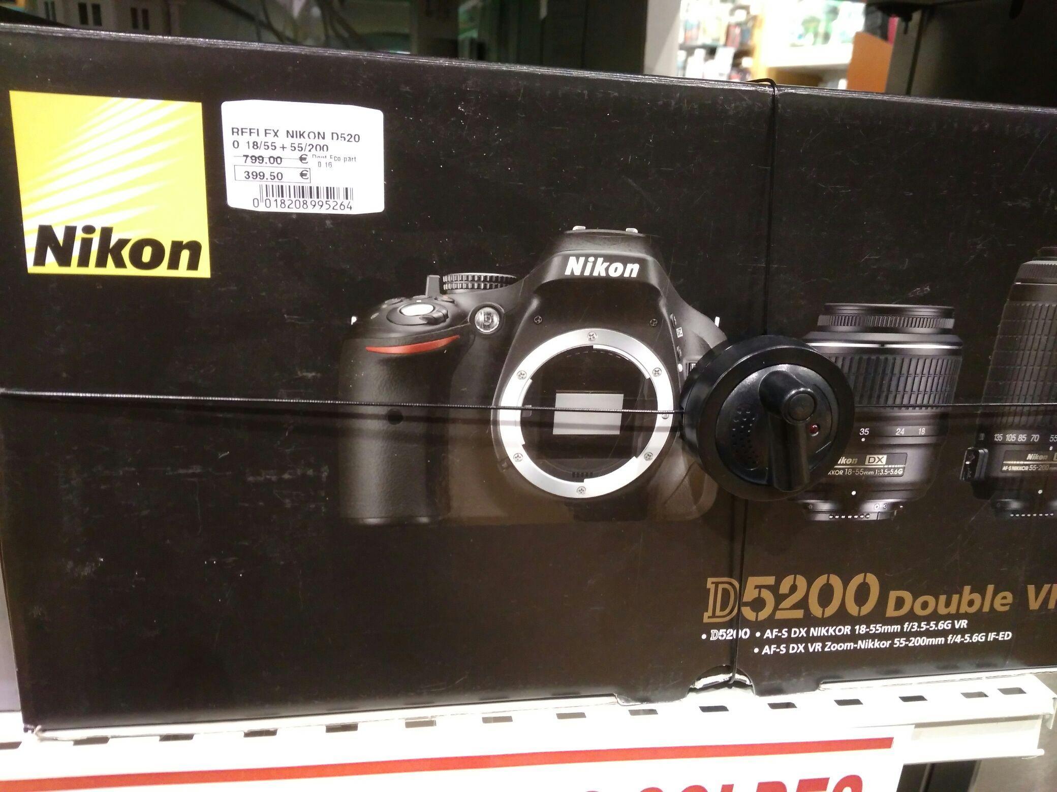 Sélection d'articles en promotion - Ex: Reflex Nikon D5200 + 18-55 + 55-200 mm