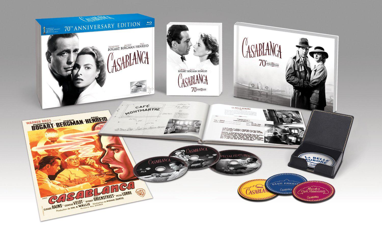 Coffret Blu-ray Casablanca Edition Collector Limitée 70ème Anniversaire (Port : 5 €)
