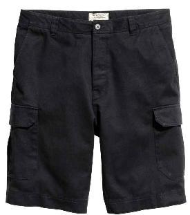 Short Cargo Noir pour Hommes - Tailles au choix