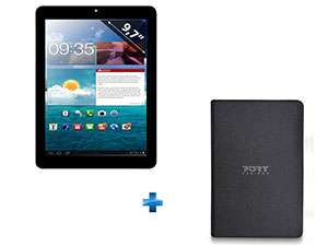 """Tablette 9,7'' Clust  CL2C10 - Capacitif, Android 4.2  + Etui universel pour tablette 10.1"""" Noir"""