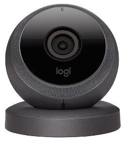 Camera de Surveillance Logitech Circle Noir avec Vision Nocturne - Full HD, Wi-Fi