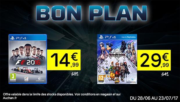 Sélection de jeux en promotion - Ex : F1 2016 ou Mafia 3 sur PS4