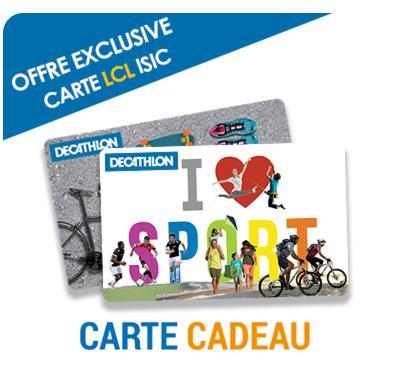 [Carte ISIC] Carte cadeau Décathlon d'une valeur de 50€
