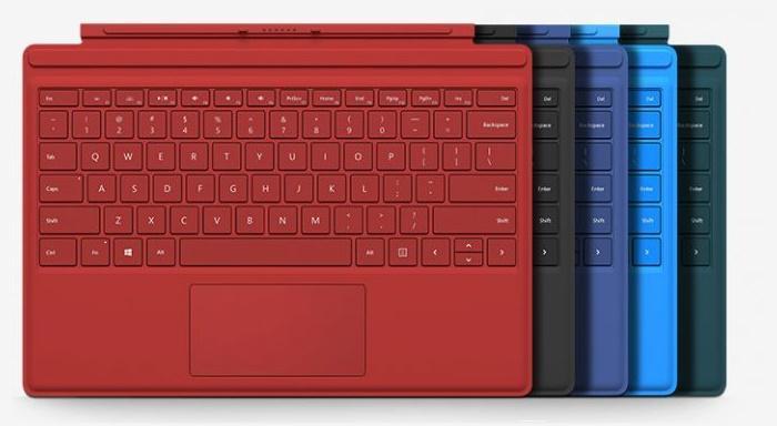 Clavier pour tablette Microsoft Surface 3 Type Cover - plusieurs coloris